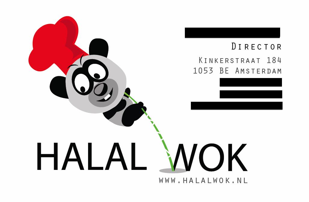Halal Wok business card website